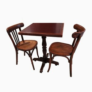 Pedestal Table and Dining Chairs from Baumann, 1960s, Set of 3