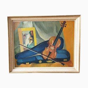 Stillleben mit Violine von C. Noël