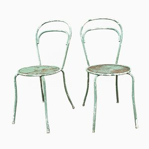 Bohemian Patinated Chairs, Set of 2