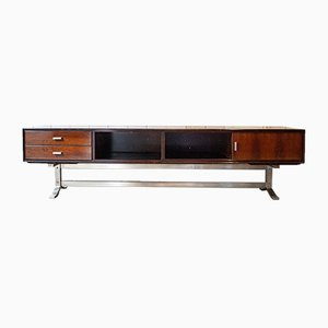 Sideboard in Teak and Steel by Gianni Moscatelli for Formanova, Italy, 1970s