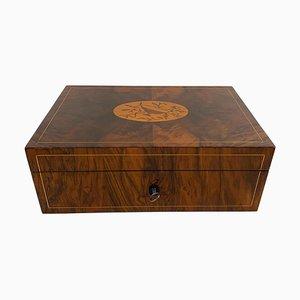Large Restored Biedermeier Box in Walnut & Maple, Vienna, 1820s