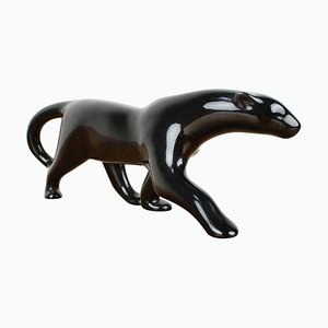 Mid-Century Sculpture of Black Panther, 1960s