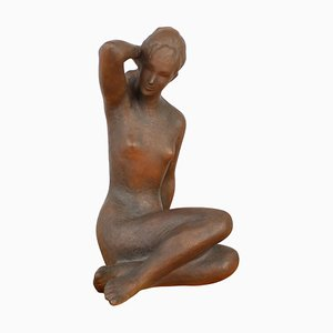 Mid-Century Sculpture of Nude Sitting Women by Jitka Forejtová, 1960s