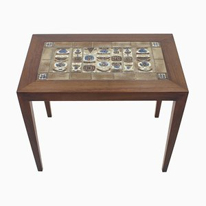 Rosewood/Tiles Occasional Table by Severin Hansen, 1960s, Denmark