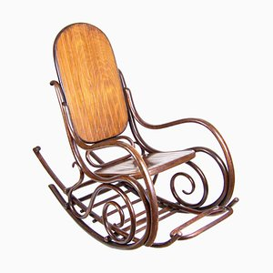Rocking Chair with Footrest by Michael Thonet