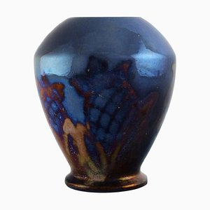 Vase in Glazed Ceramics by Edgar Böckman Höganäs, 1930s