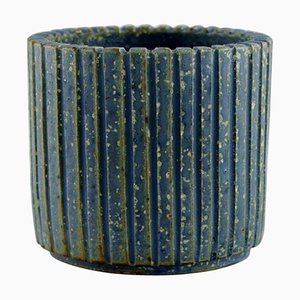 Bowl in Glazed Ceramics by Arne Bang, Denmark, 1940s