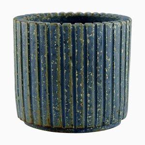 Schale aus glasierter Keramik von Arne Bang, Dänemark, 1940er
