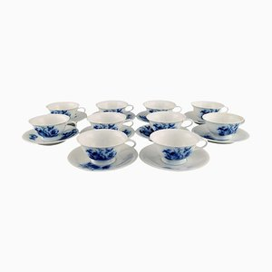 Rosenthal Tea Service for 10 People in Hand-Painted Porcelain, 1930s, Set of 20