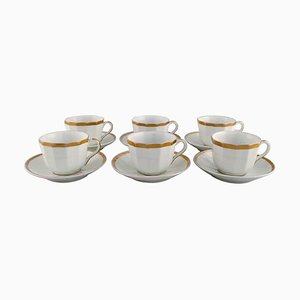 Coffee Cups with Saucers from Bing & Grøndahl, 1870s, Set of 12