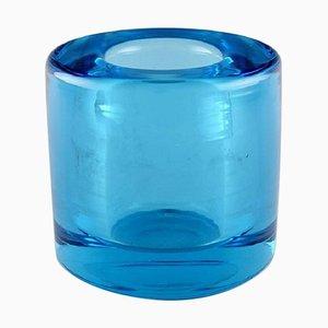 Türkise Vase aus Mundgeblasenem Glas von Per Lütken für Holmegaard