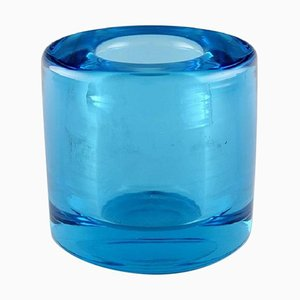 Turquoise Vase in Mouth-Blown Art Glass by Per Lütken for Holmegaard