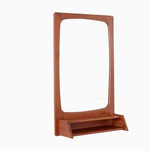 Danish Teak Mirror with Tray