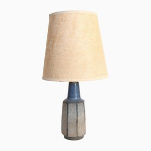 Danish Blue Ceramic Table Lamp