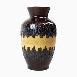Large West German Glazed Ceramic Vase, 1970s