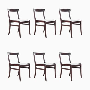 Mahogany Dining Chairs by Ole Wanscher, Set of 6