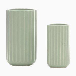Mid-Century Scandinavian Lyngby Vases, Set of 2