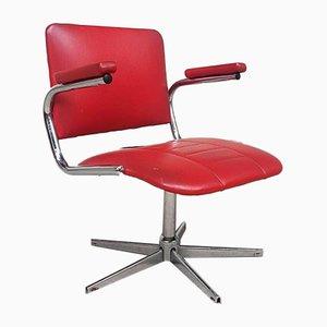 Mid-Century Low Swivel Chrome Lounge Chair