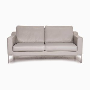 Gray Leather Sofa by Rolf Benz