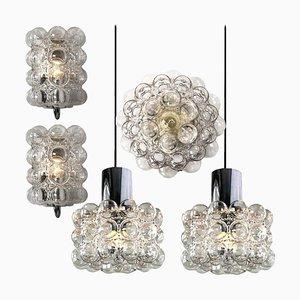 Bubble Glas Lampen von Helena Tynell für Glashütte, 5er Set