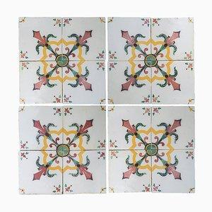 Handmade Antique Ceramic Tile by Devres, France, 1920s