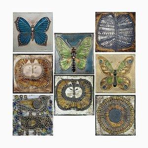 20th Century Ceramic Tiles by Lisa Larson for Gustavson, 1970s, Set of 8
