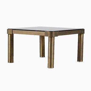 Brass & Glass Coffee Table, 1970s