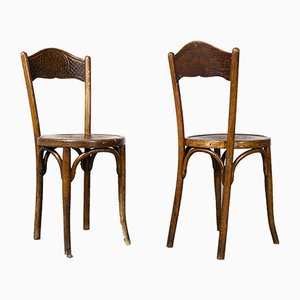 Decorated Side Chairs from JJ Kohn, Austria, 1890s, Set of 2