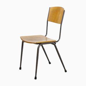 English Metal Stacking School Chair, 1970s