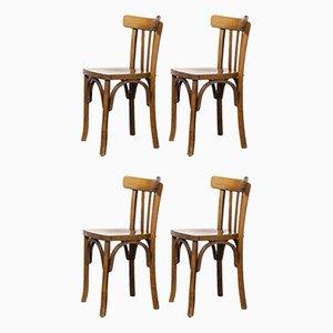 Französischer Bugholz Stuhl von Marcel Breuer für Luterma, 1950er, 4er Set