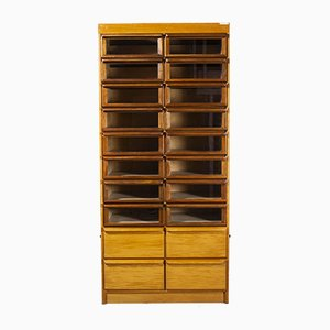 Tall Model 1067.1 Haberdashery Shelving Storage Unit with 20 Drawers, 1950s