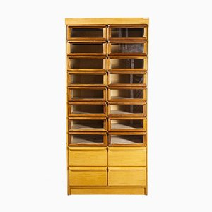 Tall Model 1067 Haberdashery Shelving Storage Unit with 20 Drawers, 1950s