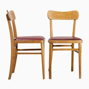 Bistro Dining Chairs, 1950s, Set of 2