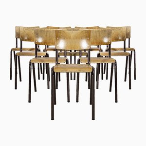 Stacking Dining Chairs with Metal Frame from Elbe, Set of 10
