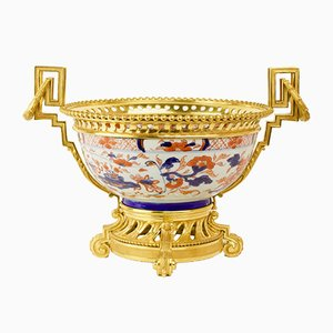 Chinese Imari Bowl with French Louis XVI Style Bronze Details, 18th or 19th Century