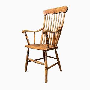 Swedish Elm High Back Chair