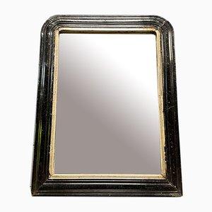 Medium-Sized Biedermeier Mirror with Black Frame