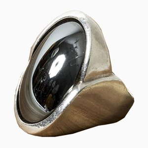 Silver and Hematite Ring from Niels Erik