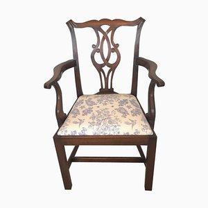 Chaise de Bureau Antique en Acajou