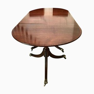 Antique Mahogany Triple Pedestal Dining Table
