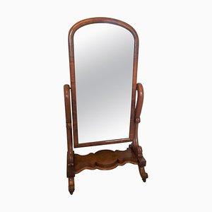 Antique Victorian Mahogany Dressing Mirror, 18th Century