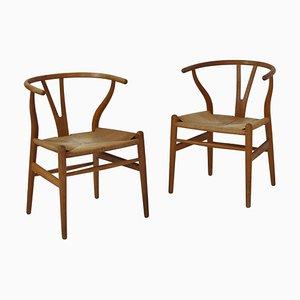 Wishbone Chairs by Hans J. Wegner for Carl Hansen & Sons, 1950s, Set of 2