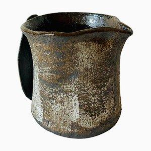 Handgefertigte Sandstein Séléné Vase von Cécile Ducommun