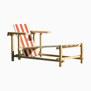 Red and White Sunlounger by Edvin Klasson
