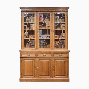 Oak 3-Door Bookcase