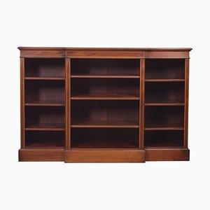 Mahogany Breakfront Open Bookcase
