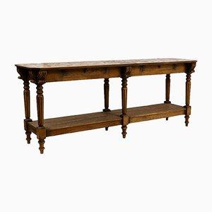 Engraved Oak Drapers Table