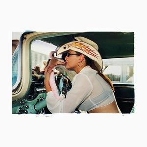 Wendy Flaming Eyeball, Las Vegas, Contemporary Portrait Color Photograph, 2001
