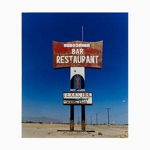 Sundowner II, Salton Sea, California - Blue Sky Roadside America Color Photo, 2003