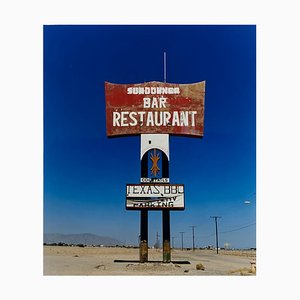 Sundowner II, Salton Sea, Kalifornien - Blue Sky Roadside America Color Photo, 2003